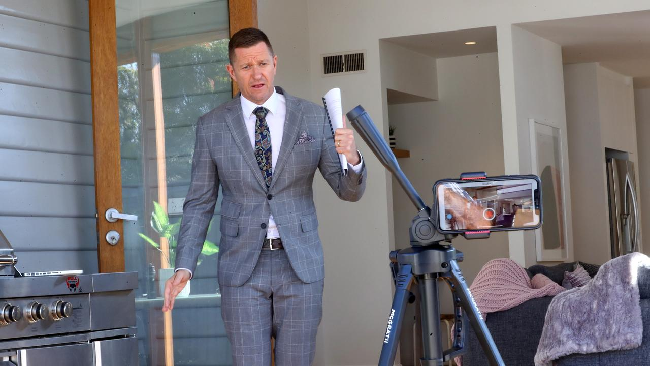 Auctioneer David Cortous expects online auction apps, like Auction Now, to remain as social distancing rules limit face-to-face auctions to 10 people. Picture: Glenn Ferguson