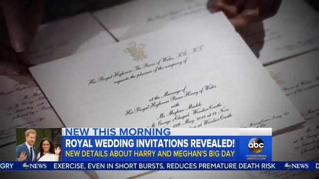 Details about Prince Harry and Meghan Markle's wedding invitations released