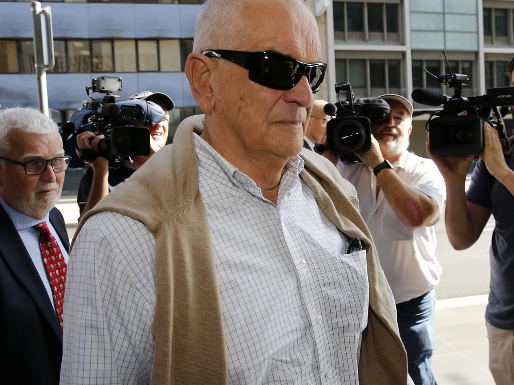 Graeme Lawrence arrives at the Newcastle District Court in Newcastle for sentencing. Picture: Darren Pateman/AAP