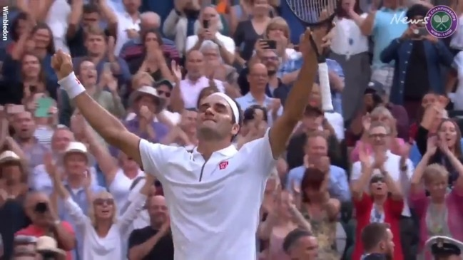 The moment Roger Federer reached his 12th Wimbledon final