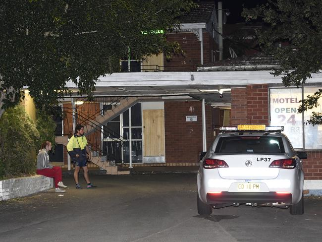 A man was left in critical condition after he was hit by a pickaxe at the motel last year. Picture: Gordon McComiskie