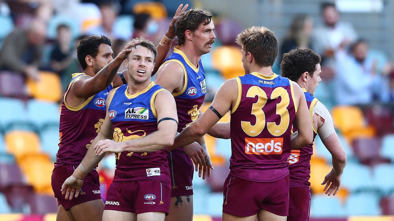 Joe Daniher's Brisbane Lions defeated the Gold Coast Suns. Pictire: Chris Hyde