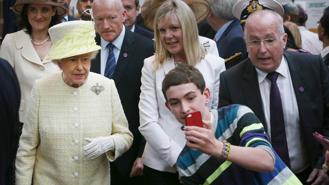 The Queen did not look impressed. Picture: Getty Images.