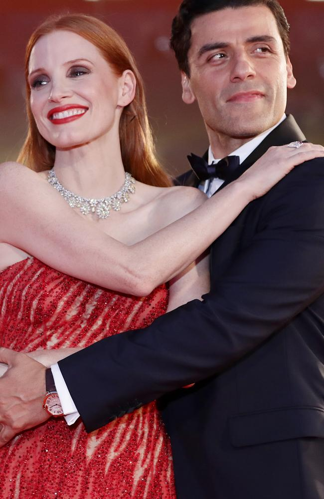 Jessica Chastain and Oscar Isaac at the 78th Venice International Film Festival. Picture: Vittorio Zunino Celotto/Getty Images