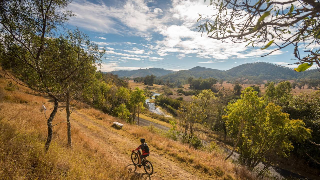 Photo from the 2018 Brisbane Valley Rail Trail 100km Challenge Bike Ride from Esk to Yarraman. Photo: Lachlan Ryan.