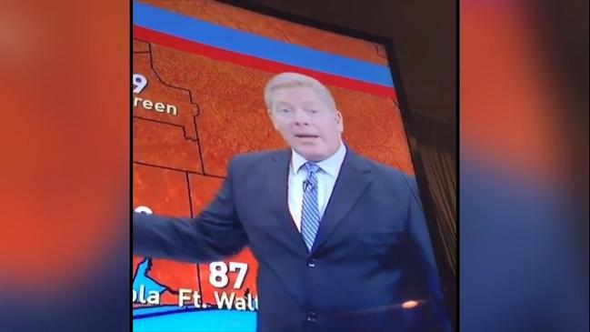 Did this well respected weatherman just fart?