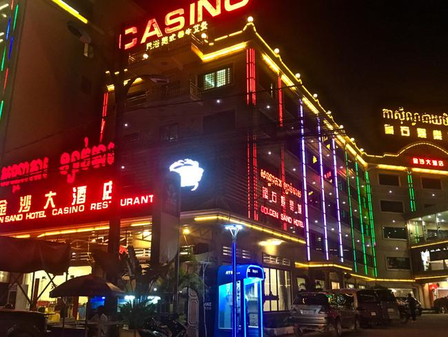 One of Sihanoukville's 30 casinos. There are 70 more under construction.