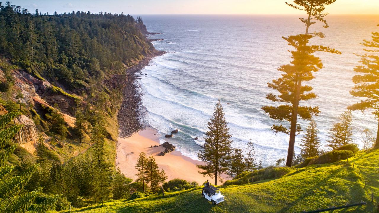 The new flights will initially operate for three months. Picture: Norfolk Island Tourism