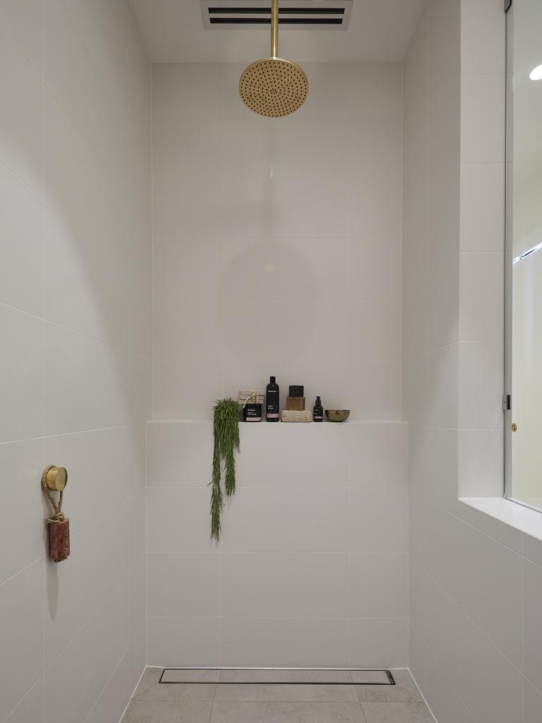 They described their bathroom as 'stunning' but didn't agree with having a nib wall. Picture: The Block