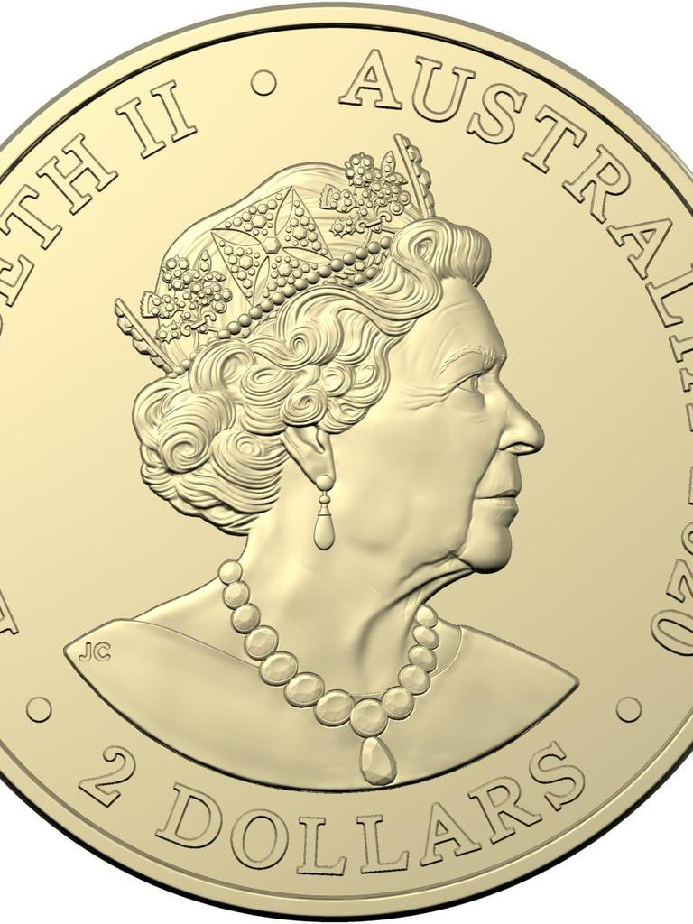 The back of the commemorative $2 coin released by the Royal Australian Mint.