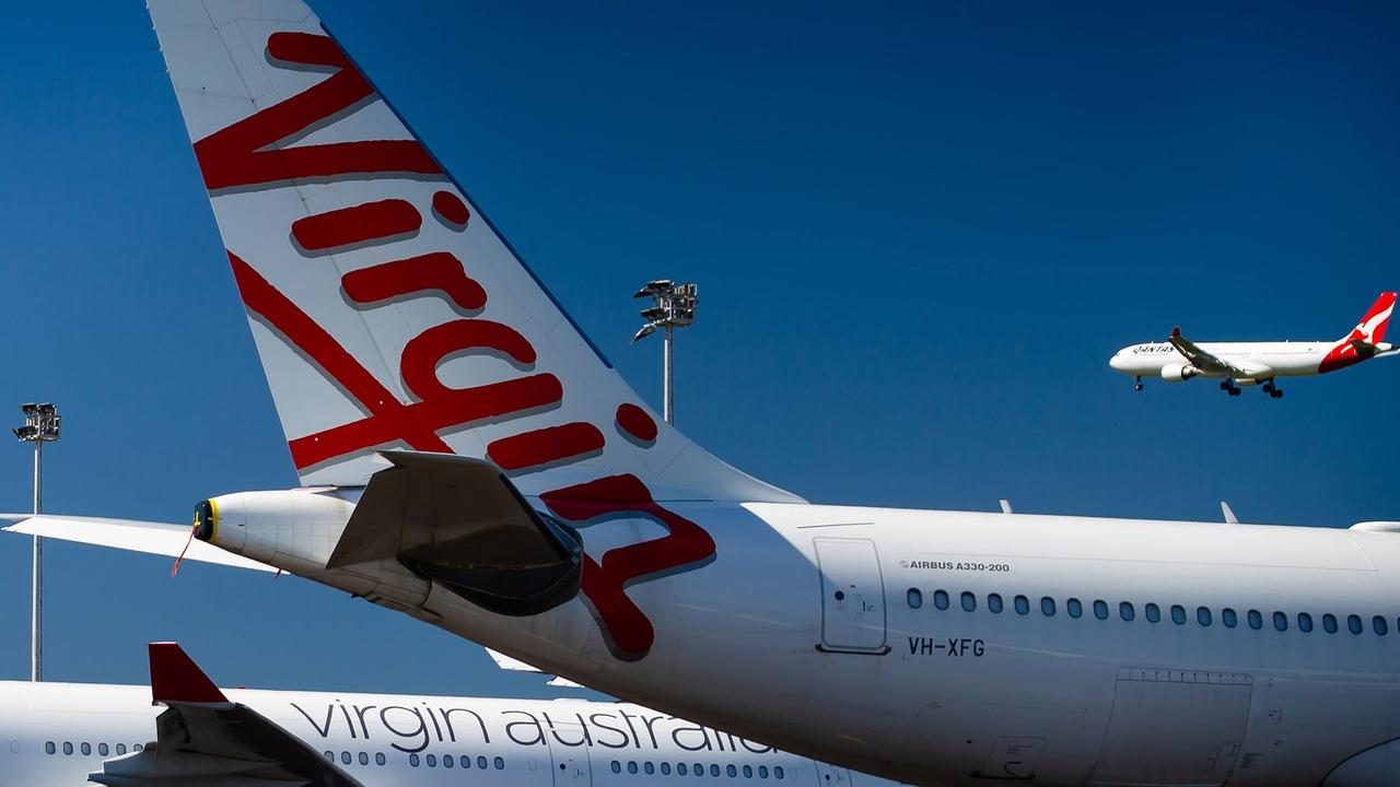 Virgin Australia shareholders are unlikely to get paid anything. (Photo by Patrick HAMILTON / AFP)