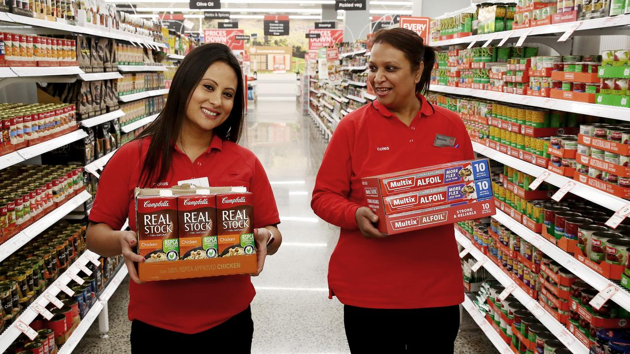 Coles kicked off the 'Down, Down' campaign 10 years ago but are their low prices over? Picture: Toby Zerna