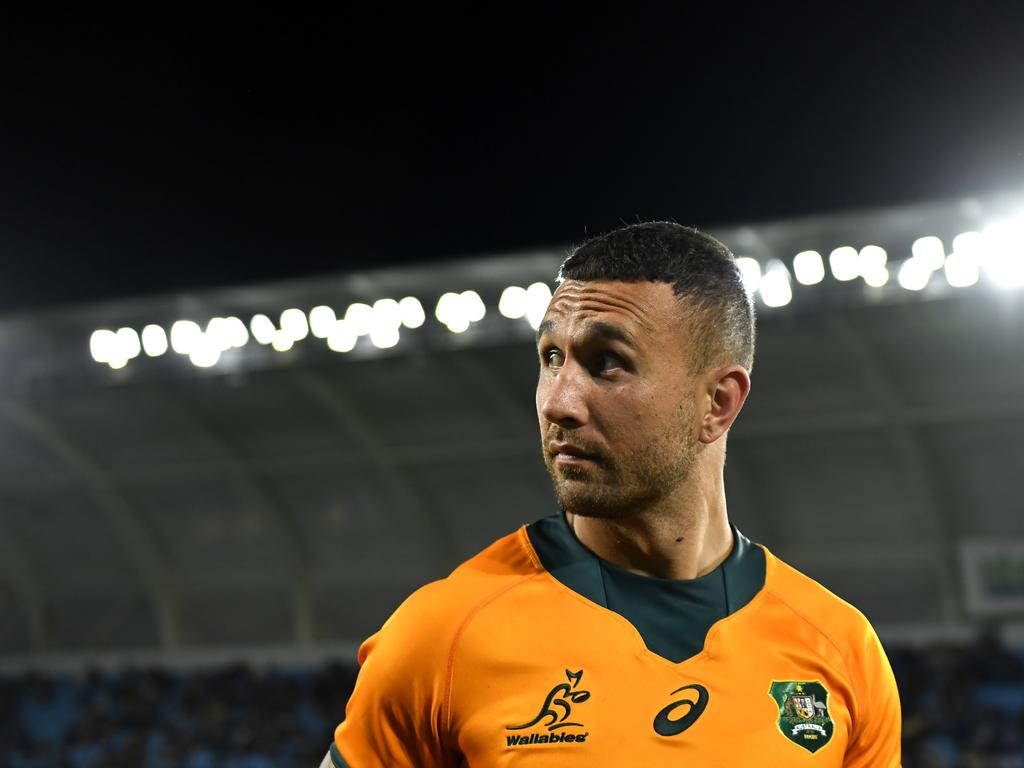 Quade Cooper's return has contributed to Noah Lolesio's omission from the Wallabies squad touring Japan and the UK. Picture: Albert Perez/Getty Images