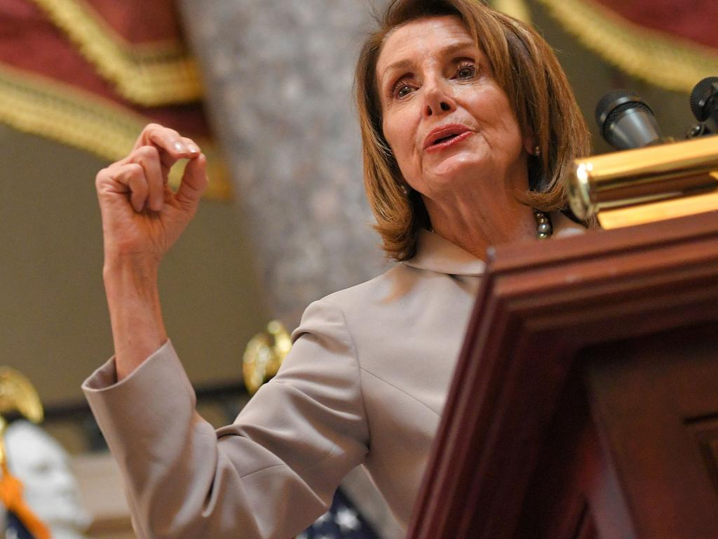 US House Speaker Nancy Pelosi has called for the Mueller report to be released. Picture: AFP
