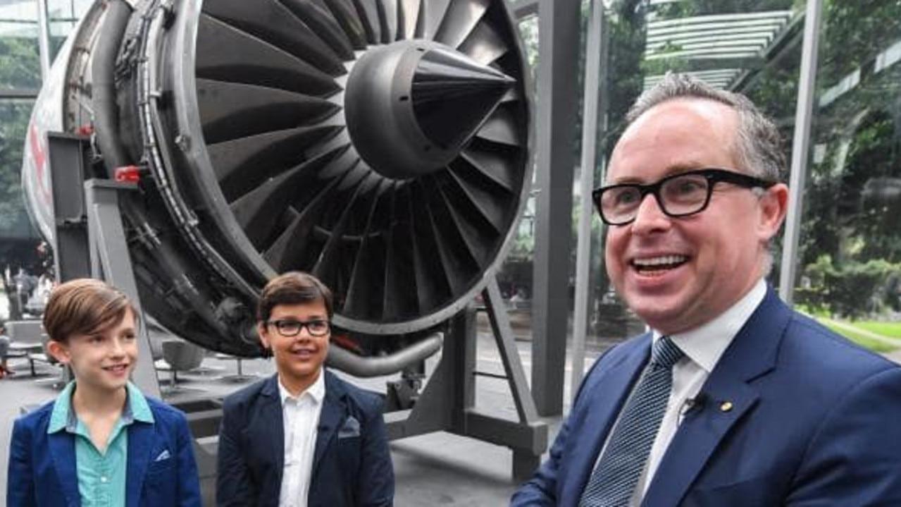 Qantas CEO Alan Joyce with Alex