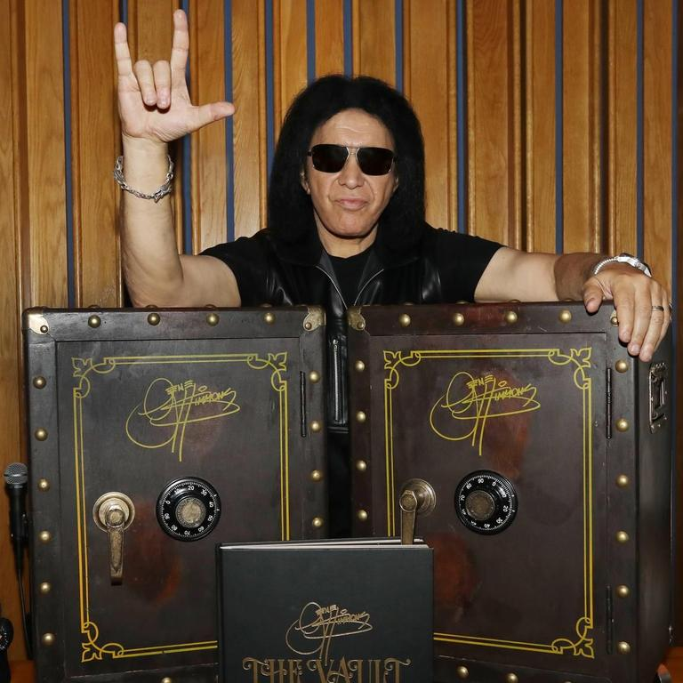 Gene Simmons hawks 'The Vault,' unreleased music by him and others. PHOTO: MARK WEISS/GETTY IMAGES