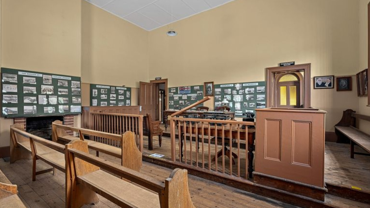 The old courtroom makes up part of the property's museum. Pic: realestate.com.au