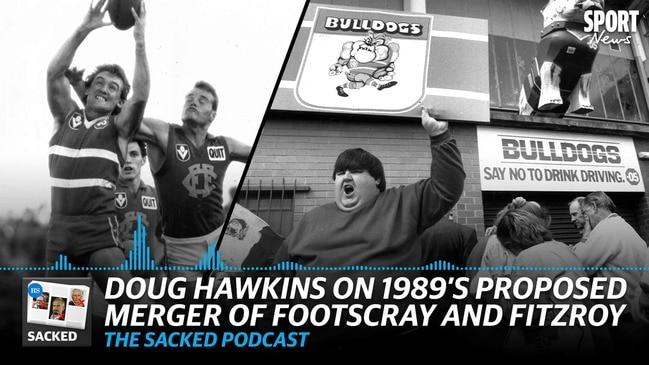 SACKED: Doug Hawkins on 1989's proposed Bulldogs merger