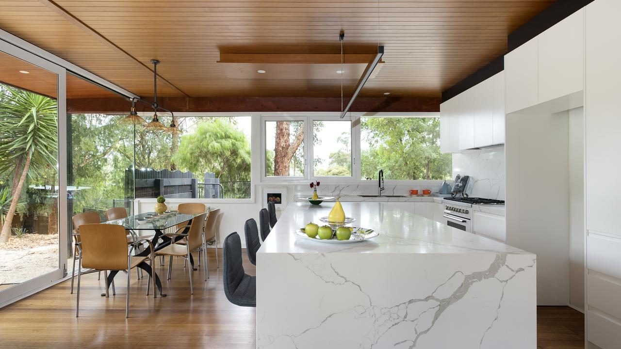 The unusual move means natural light has free reign throughout the house.