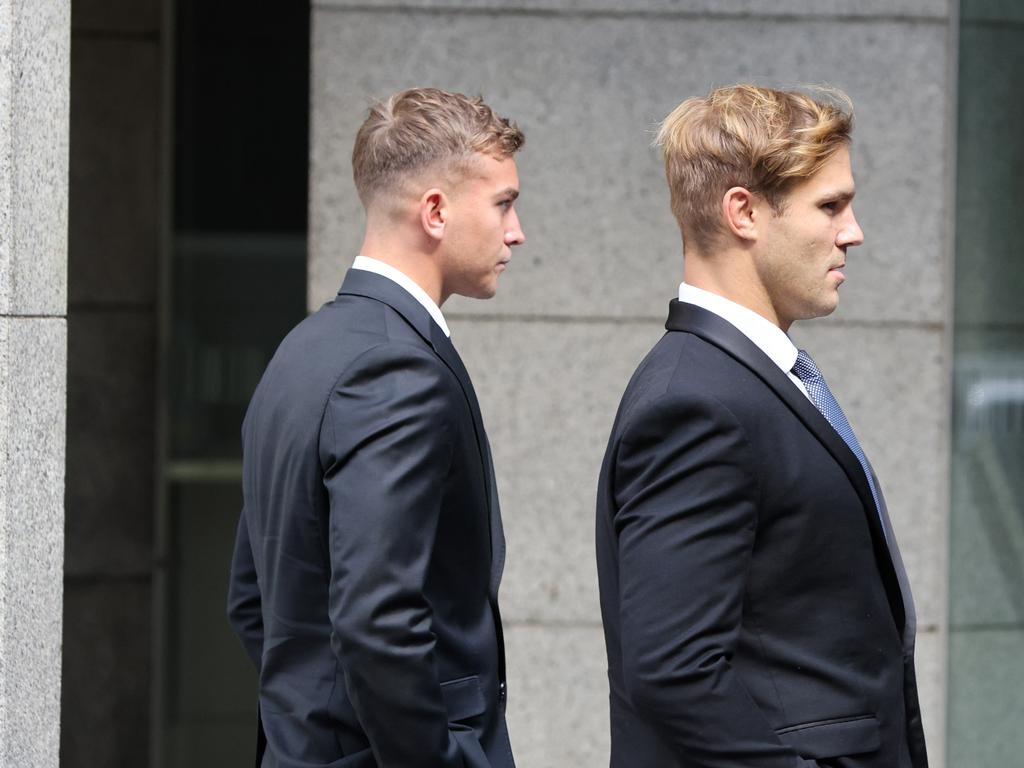 Jack de Belin and Callan Sinclair are standing trial together. Picture: NCA NewsWire / Damian Shaw