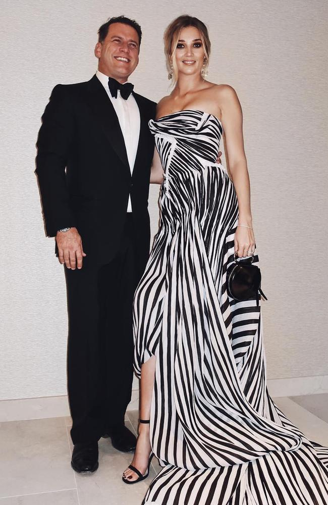 Stefanovic took Jasmine Yarbrough, who is wearing a Toni Maticevski dress, to this year's Logies.