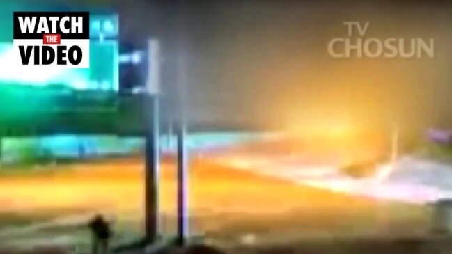 Moment North Korean defector flees through DMZ (TV Chosun)