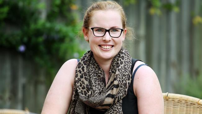 Emma Betts wants young women to realise how dangerous the sun can be. Picture: Tara Croser