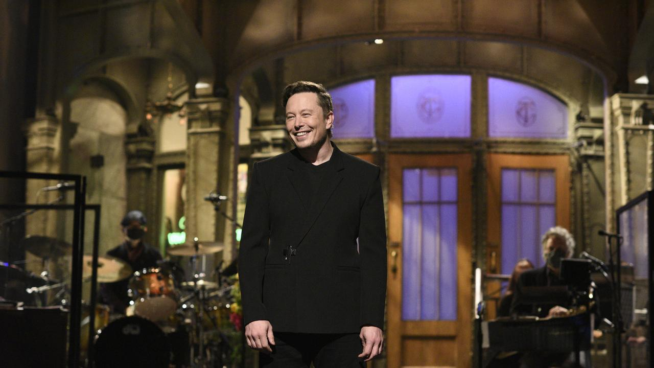 Elon Musk delivers the monologue on SNL. (Photo By: Will Heath/NBC/NBCU Photo Bank via Getty Images)