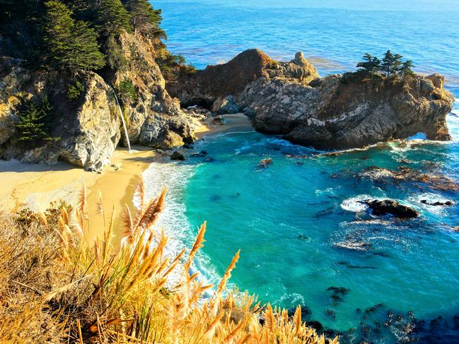 MCWAY FALLS, JULIA PFEIFFER STATE PARK, BIG SUR If California's Central Coast were a film, Big Sur would receive top billing. This 145km stretch from Carmel-by-the-Sea in the North to Hearst Castle in the South is among the most beautiful sections of road anywhere on Earth. Spend the night at one of the extraordinary (and extraordinarily pricey) resorts like the Post Ranch Inn, or save your dollars and chef up a seaside picnic at one of the area's beautiful campgrounds. Wherever you stay, don't miss the hike out to exquisite McWay Falls in the Juila Pfeiffer Burns State Park. visitcalifornia.com
