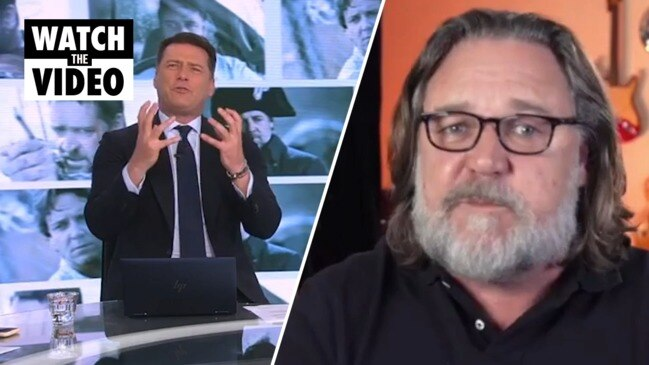Karl calls out Russell Crowe for snub live on-air (TODAY)