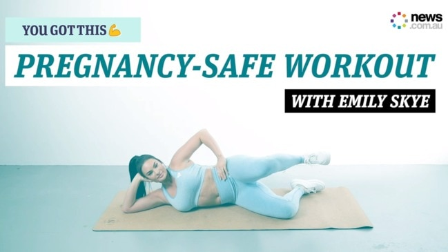 You Got This: Emily Skye's Pregnancy-safe workout moves
