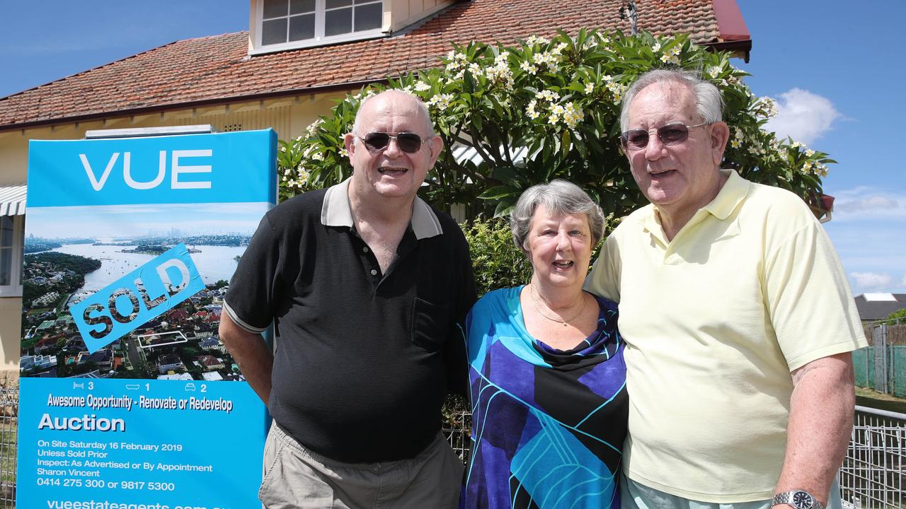 A home kept in the same family for decades has sold. Pictured are vendors Peter and John Doyle-Jones, and John's wife, Annette. Photo: David Swift