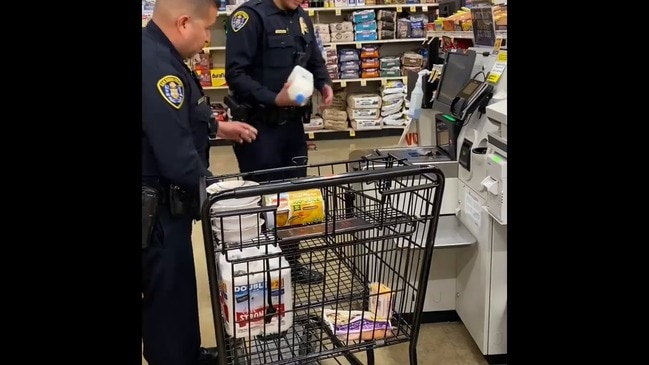 San Diego Cops Collect Groceries and Chinese Takeout for 95-Year-Old