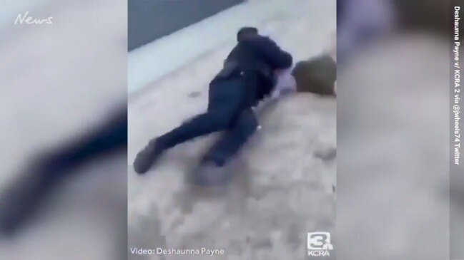 Californian police officer's brutal body slam over $14 fee