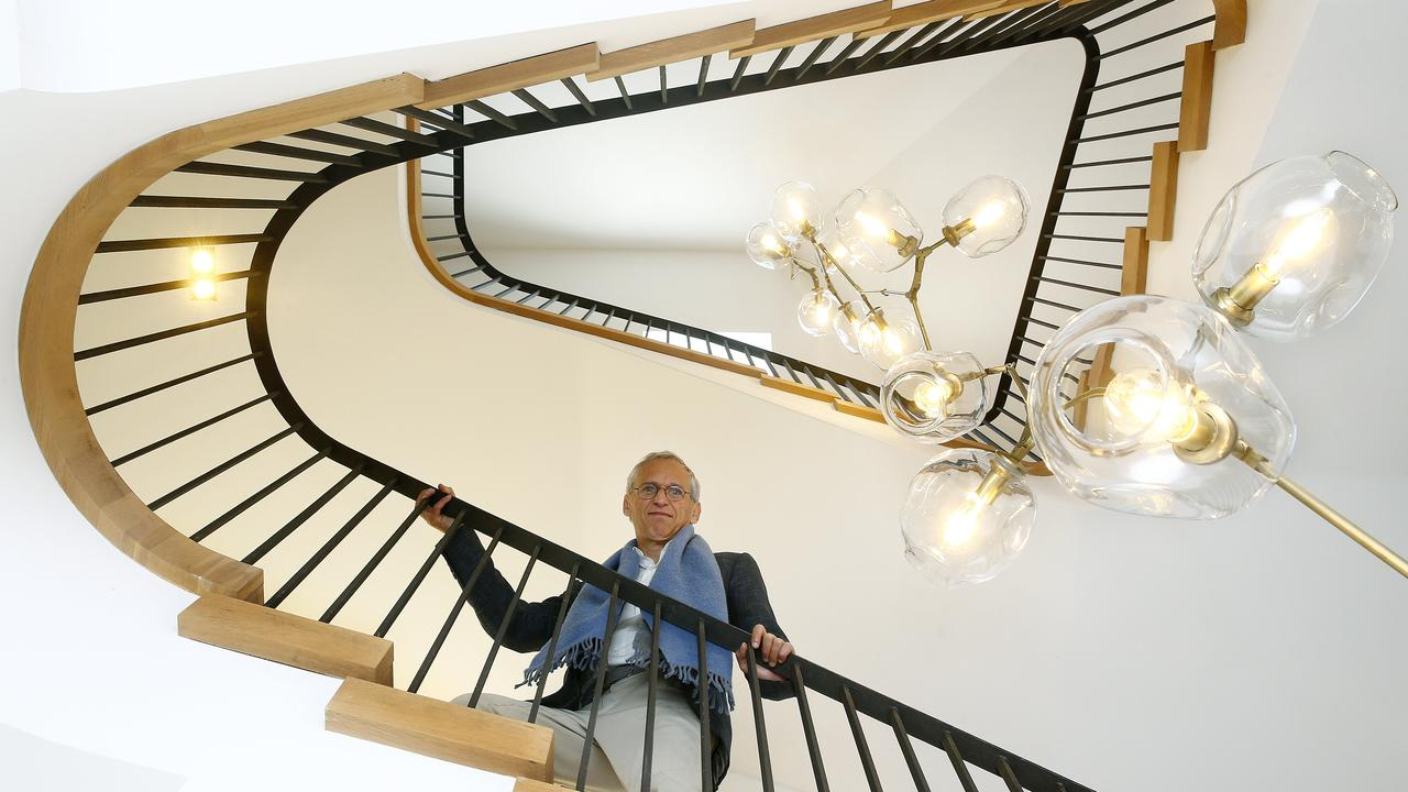 Rosselli and one of his famous staircases. Picture: John Appleyard