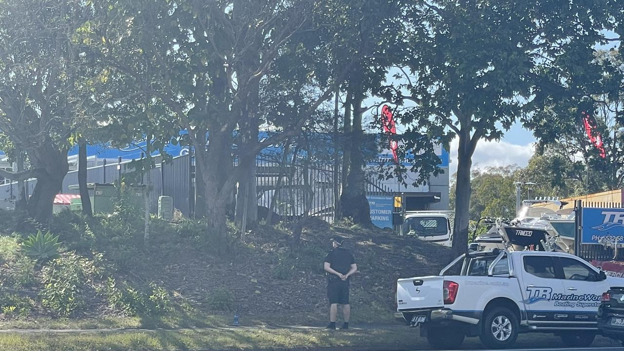 Photos taken on United Road in Ashmore after Gold Coast police declared an emergency PSPA early Tues morning. Photo: Melanie Whiting