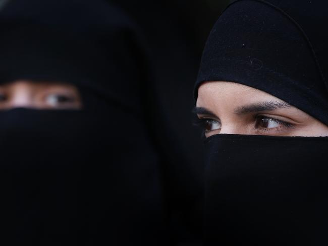 Ms Hanson says burqas and the niqab are dangerous. Picture: Peter Macdiarmid