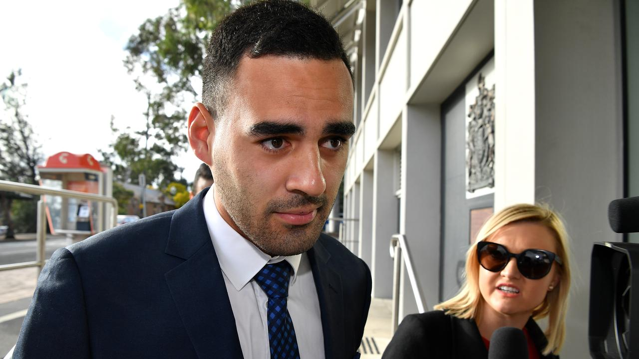 Tyrone May arrives is now facing eight charges.