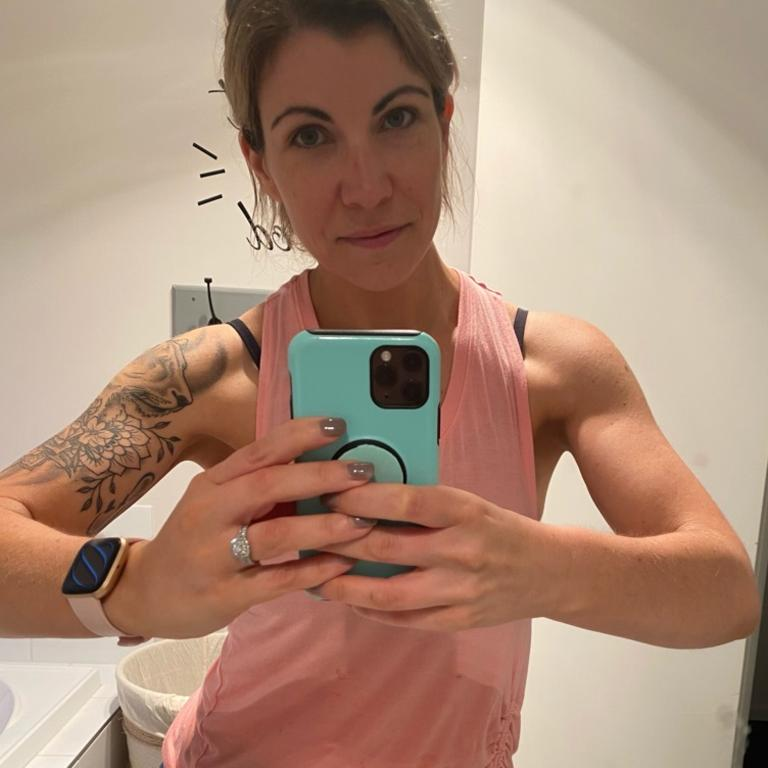 Jayne said she feels stronger than ever before and is now focusing on building more muscle. Picture: Supplied