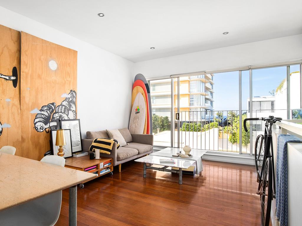 Mr Günsberg's investment apartment at 203/79 Gould St, Bondi Beach, has a price guide of $1 million.