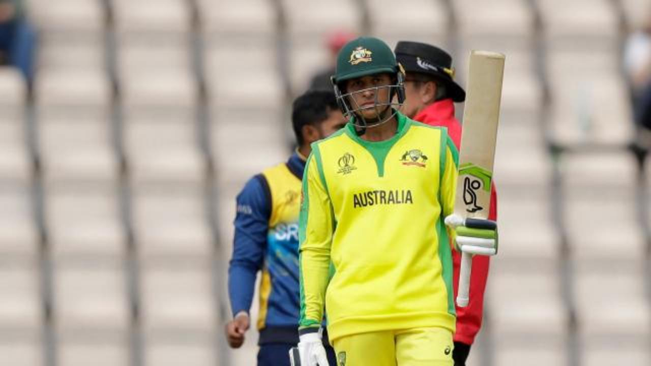 Usman Khawaja gets his eye in