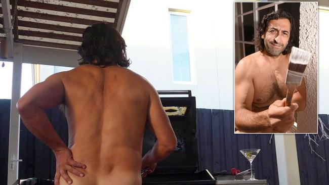 Naked neighbour in protest over new houses windows