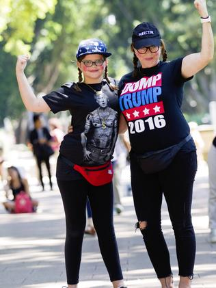 Lily and Tania Mellis join protest. Picture: Jenny Evans