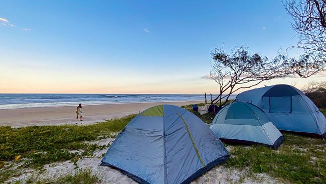 4/12 K'Gari There are four designated camping zones on what used to be known as Fraser Island, but our pick is the One Tree, Cornwells and Gabala zone which is close to beaches, drives, walks, lakes and picnic areas. One highlight is Lake Allom, one of the only places on the planet where rainforest grows on sand. Costs: As with all Queensland Parks a permit is required. It costs $6.85 per person per night, or $27.40 per family per night. A family group is defined as one or two adults and accompanying children under 18, up to a total of eight people. Children under five years of age camp for free. Photography: Tourism and Events Queensland.