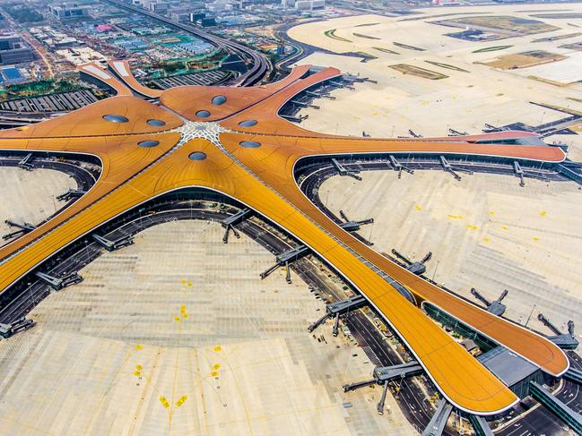 China's new Beijing Daxing International Airport has officialy opened. Picture: STR/AFP
