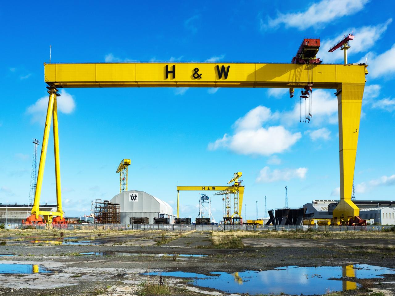 Samson and Goliath. Famous shipyard cranes in Belfast