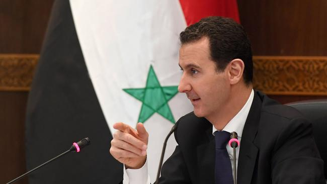 The Iranian government supports Syrian President Bashar al-Assad.