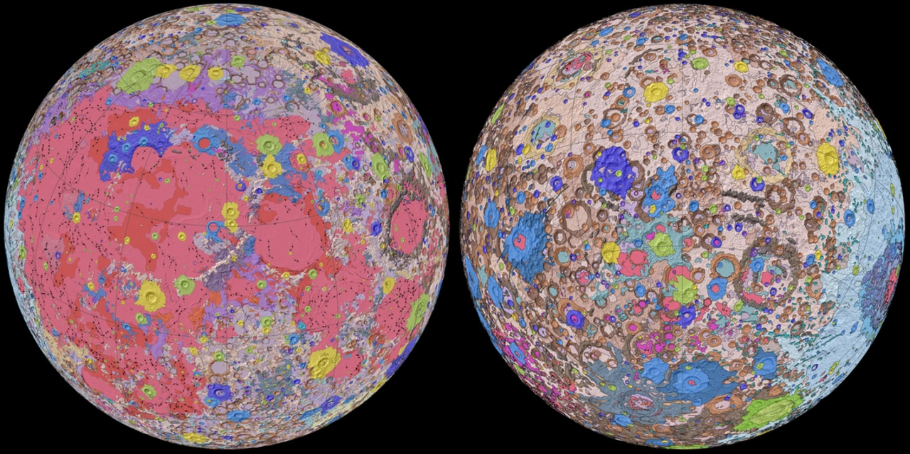 """Unified Geologic Map of the Moon"""