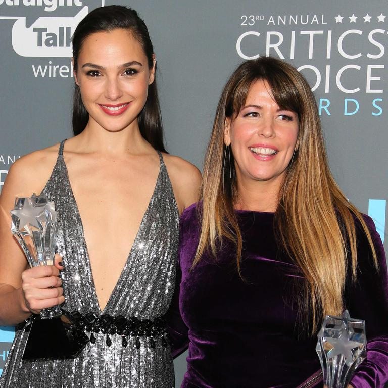 Gal Gadot (left) and director Patty Jenkins. Of her leads, Patty says: 'I love those guys so much.' Picture: Jean-Baptiste Lacroix/AFP