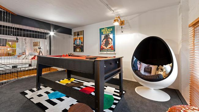 Inside the funky home.